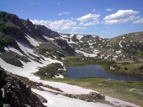 View of Bench Lake from the...