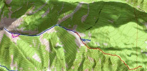3D Topo of St Joseph Route