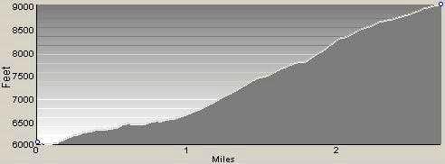 Profile of Little St Joe Route