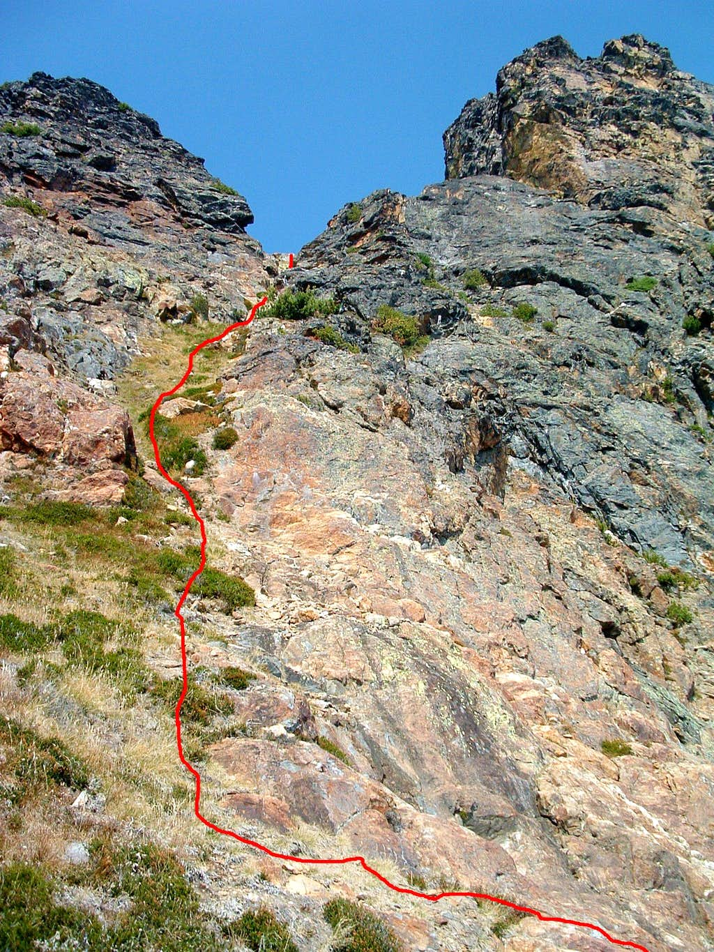 Route Down South Face Gully