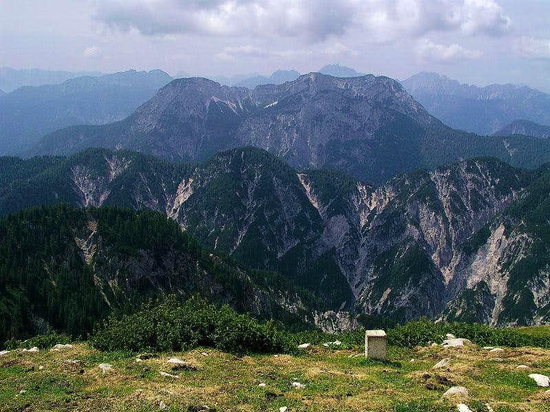 Monte Schinauz from Poludnig/Poludnik