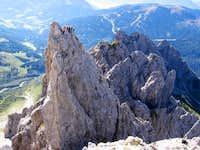 Climbers on the Teufelshorn