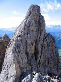 Descending the Brücknergrat