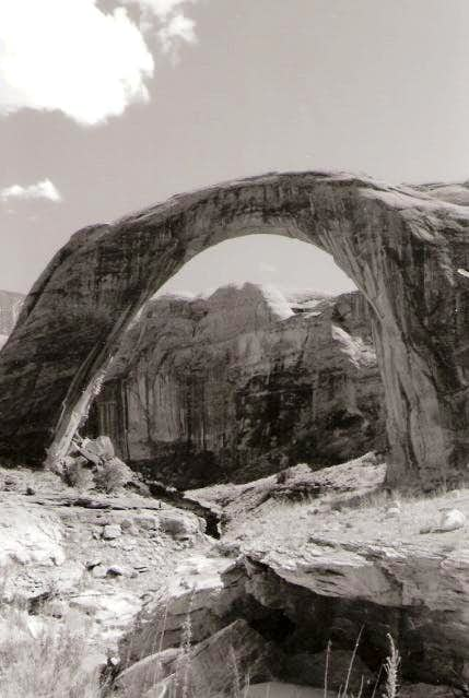 Rainbow Bridge Black and White