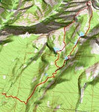 3D of Four Lakes Route