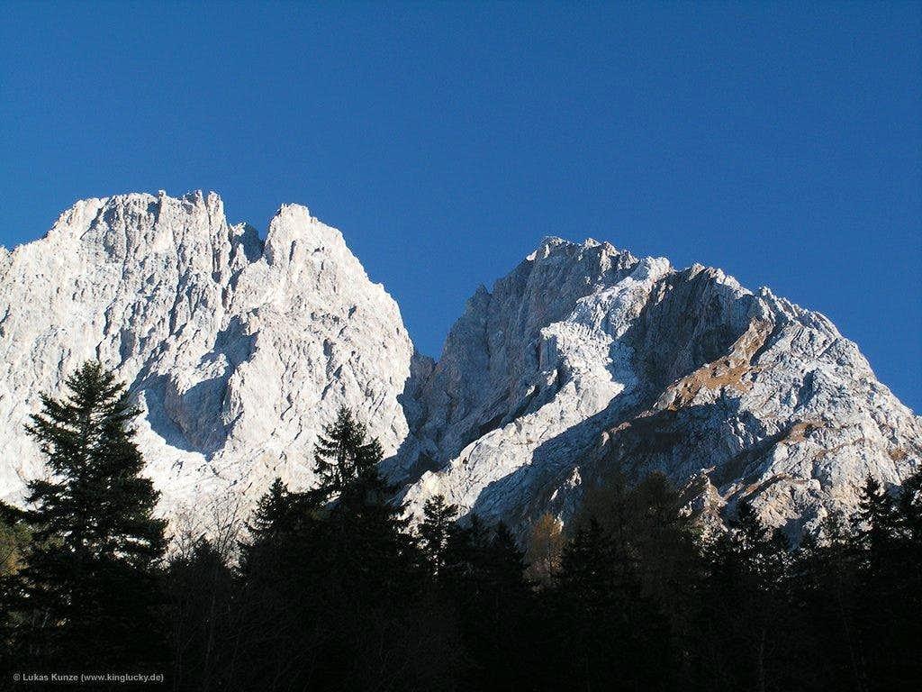 West face of Marienbergspitze