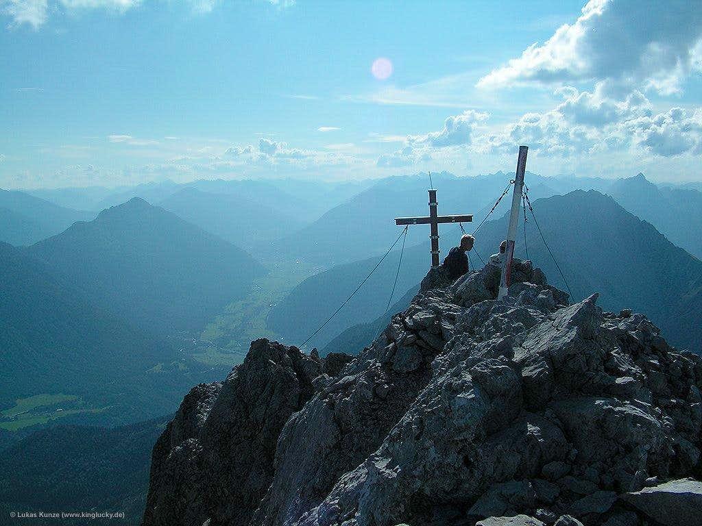 Summit cross of Marienbergspitze
