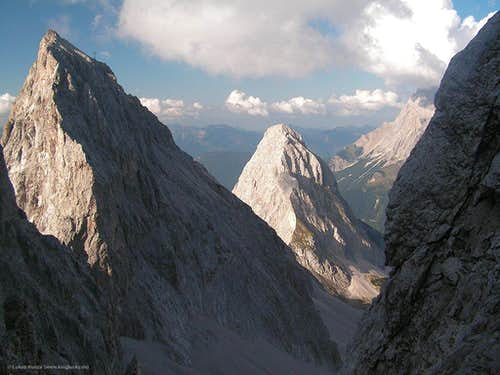 Sonnenspitze from the north gully