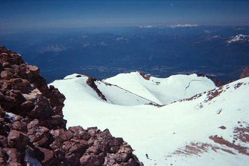 Summit plateau, south from...