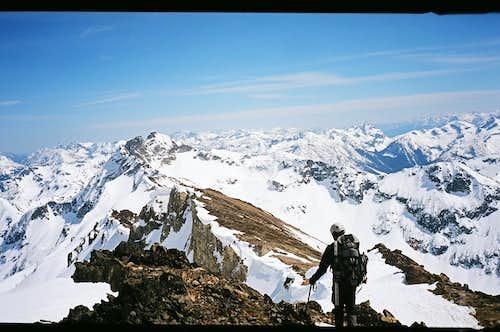 Descending Black Peak