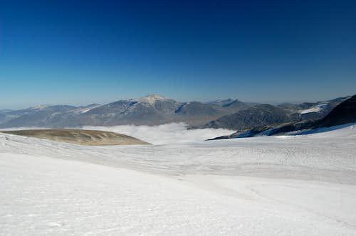 Glittertind from the Styggebrean glacier
