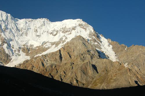 North Face of Ganalo Peak (6606m)