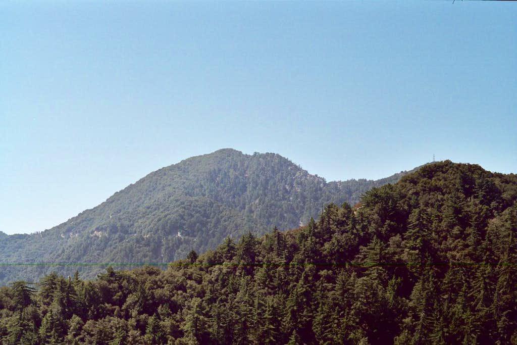 San Gabriel Peak  (center)(6,161 ft.), San Gabriel Mountains