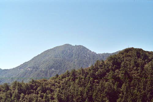San Gabriel Peak  (center)(6,161 ft.), San Gabriel Mountains