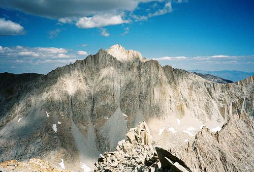 Bear Creek Spire from the summit of Mount Julius Caesar