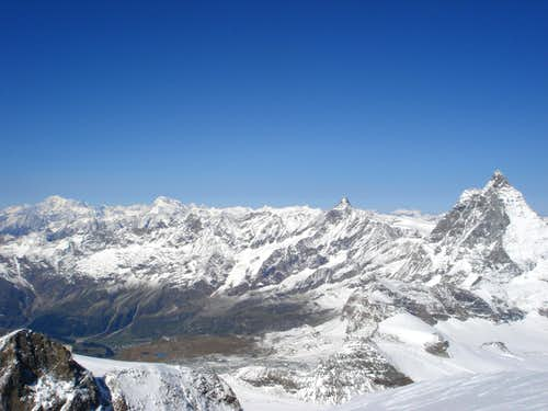Summit panorama (south west) from Breithorn