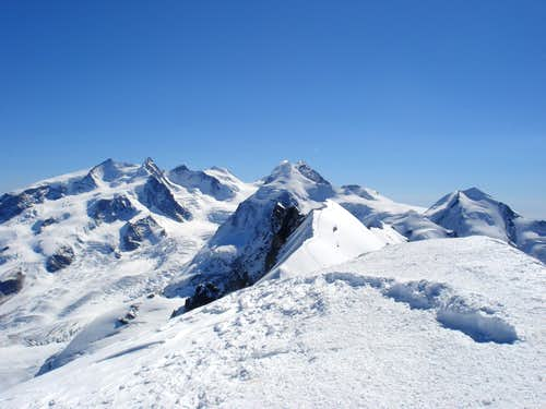 Summit panorama (east) from Breithorn
