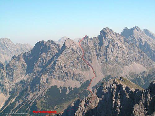 Southern route to Marienbergspitze
