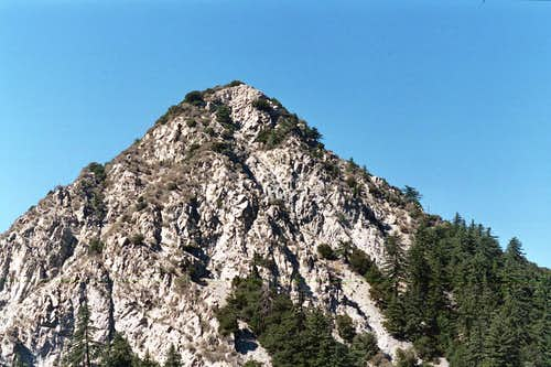 Mt. Markham (5,742\') seen from near Eaton Saddle Trailhead, San Gabriel Mtns.
