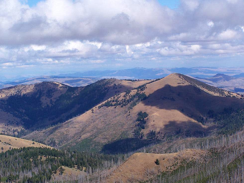 Bullrun Mountain from Table Rock L.O.