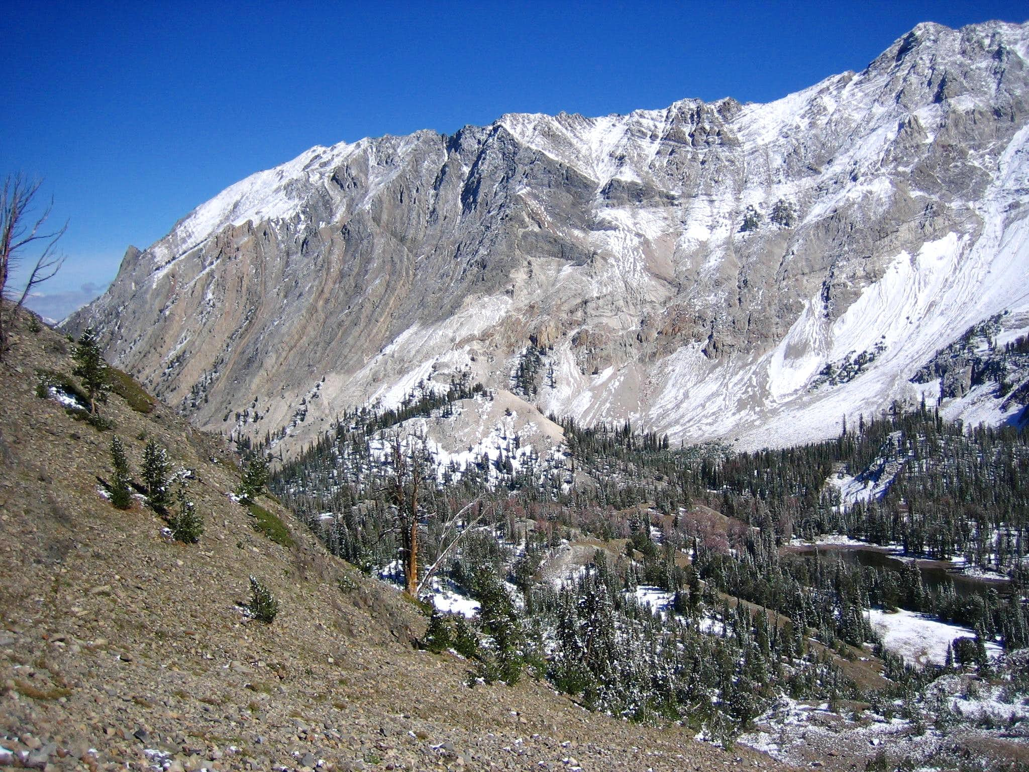 Caulkens Peak above the Slate Creek drainage.