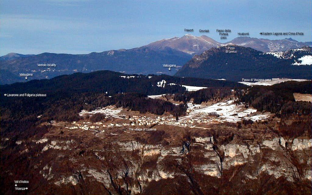 Plateau of Luserna from Monte Toraro