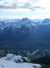 Banff from the summit of Mt Cory