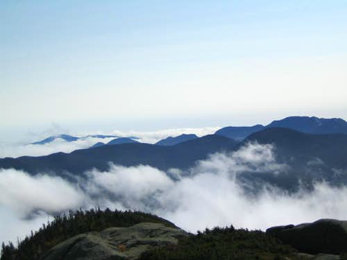 above the clouds on Wright Peak