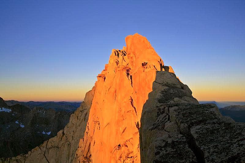 Summit ridge of Mt. Clarence King