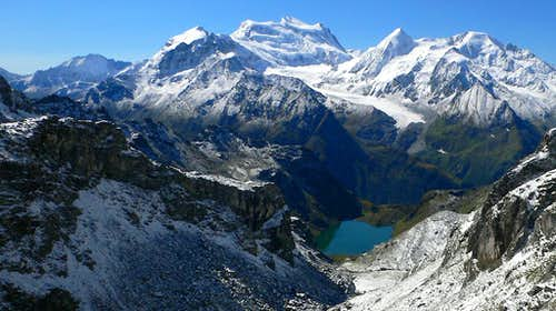 The Grand Combin and Lac de Louvie