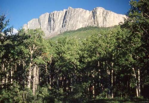 A view of Yamnuska in 1988....