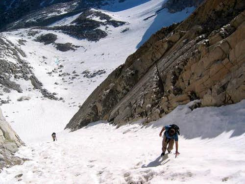 Climbing the NE Couloir of...