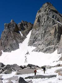 Climbers returning from a...
