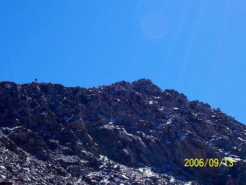 Guy hiking ridge