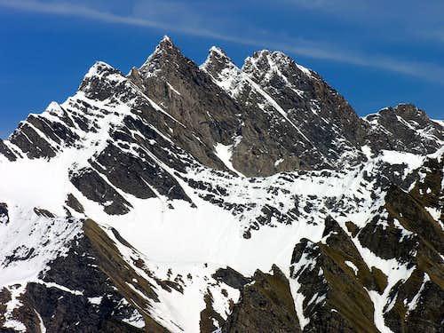 La Grande Rochère (3326 m) versante sud ovest, La Salle