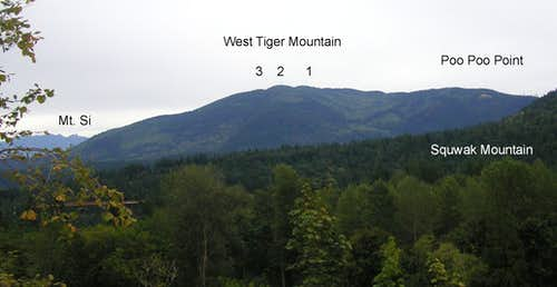 Tiger Mountain from the west