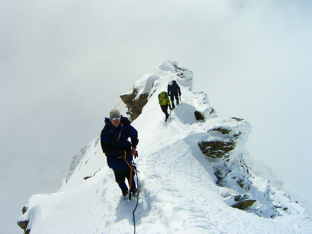 Me on Mönch SE ridge