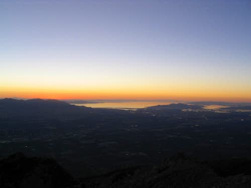 Salt Lake sunset from the top