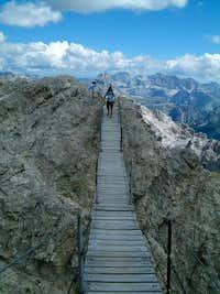 Longest suspension bridge in the dolomite-ferrata's