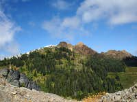 Twin summits of the Red Buttes
