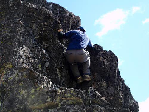 Me freeclimbing some Class 3