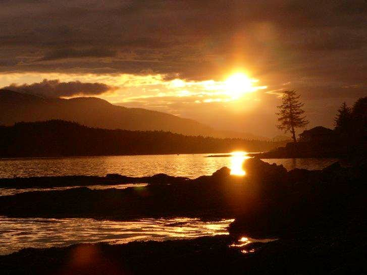 Ketchikan, AK Sunset with Deer Mountain in the background