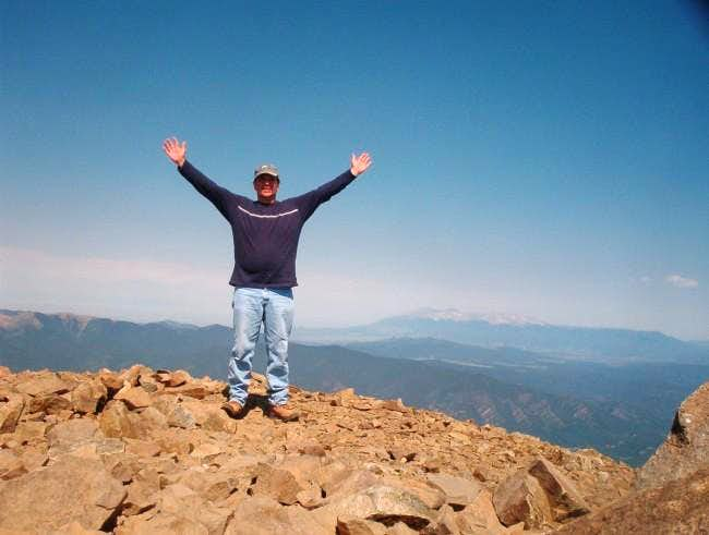 Summit jubilation with the...
