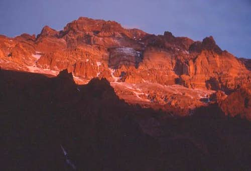 The North face of Aconcagua...