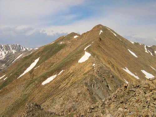 Rinker Peak\'s long northeast...