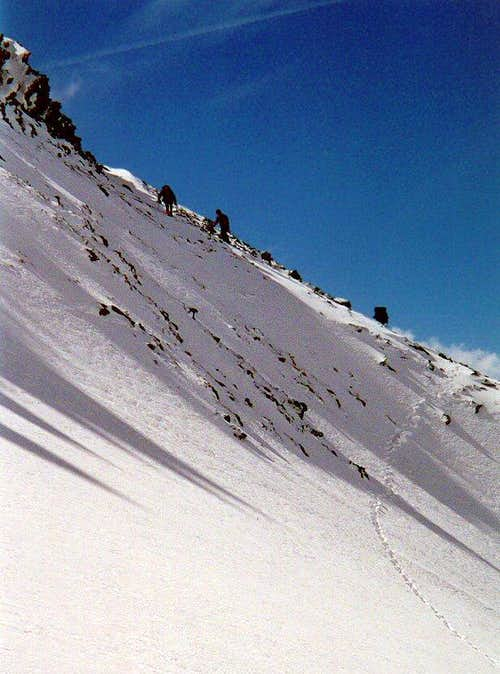 The first slope of the south East Ridge