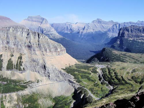 Logan Pass summit.