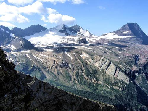 Sperry Glacier, Gunsight Mtn, Edwards Mtn.