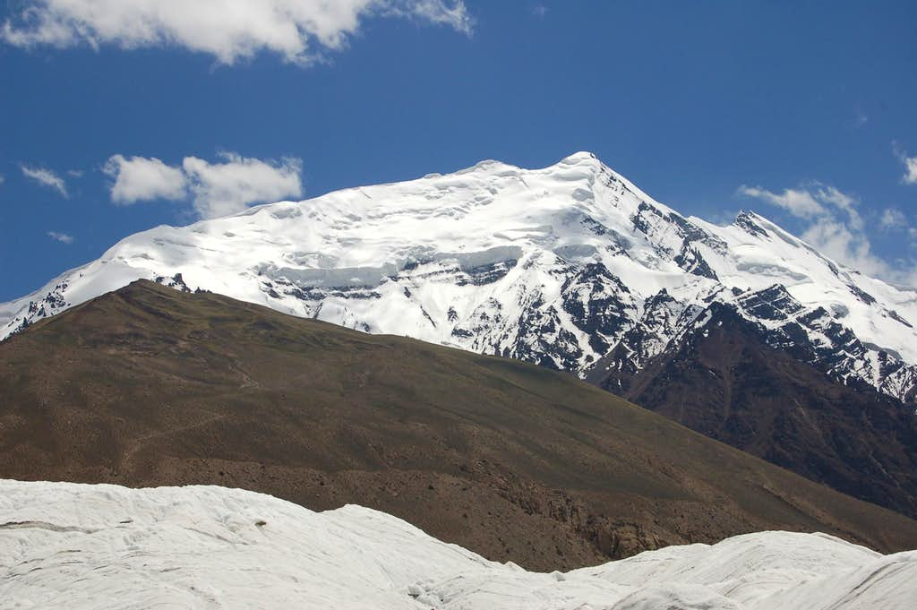 Yazghil Sar from the western side of the Yazghil Glacier