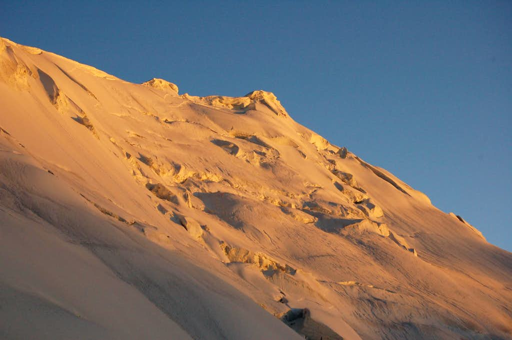 Yazghil Sar viewed from the high camp at around 5100m